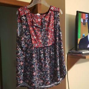 Sleeve less blouse
